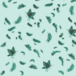 Sparrow Feather Pale Green