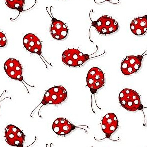 Luck be a ladybug - white dots