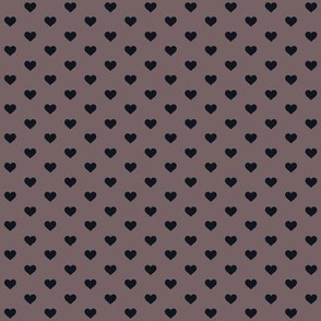 Hearts Black on Taupe XS