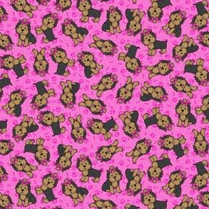 Yorkie Party (Pink Small)
