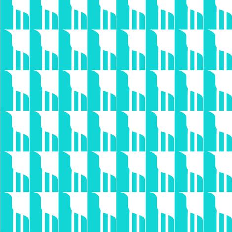 Wall Shelf Aqua White with Lines fabric by eve_catt_art on Spoonflower - custom fabric