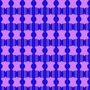 Beads Purple Blue with Lines
