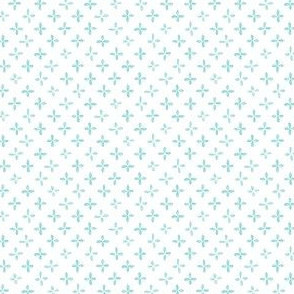 Floret - Turquoise and White