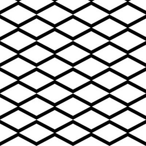 black fishnet on white
