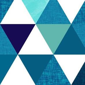 indigo triangles // oversized