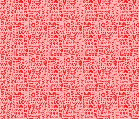 Love Love Love fabric by emilydyerdesign on Spoonflower - custom fabric