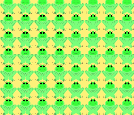 Is not easy being green fabric by inniv8z_oz on Spoonflower - custom fabric