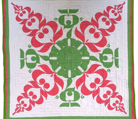 Instagram Hawaiian Cheater Quilt Backing