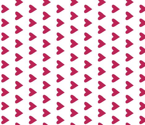 dark pink heart - pomegranate fabric by littlecolleydesign on Spoonflower - custom fabric