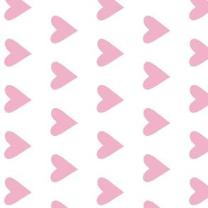 light pink heart - peony