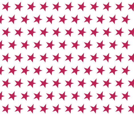 dark pink star - pomegranate fabric by littlecolleydesign on Spoonflower - custom fabric