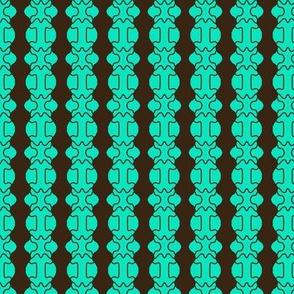 Beads Aqua Black Lined