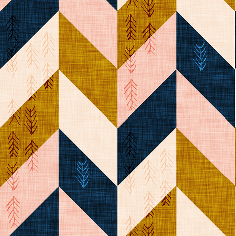 Desert Chevron (LARGE) fabric by nouveau_bohemian on Spoonflower - custom fabric
