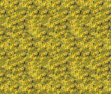 Yellow Flower Power fabric by arwenartanddesign on Spoonflower - custom fabric
