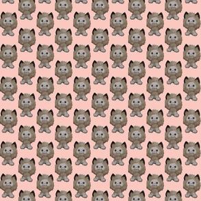 retro fuzzy kitty in pink