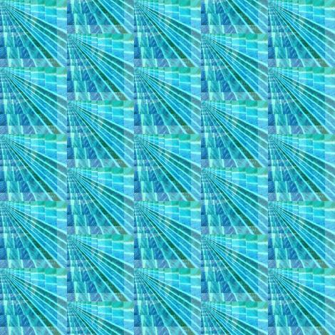 aqua_fan fabric by candacewilkinson on Spoonflower - custom fabric