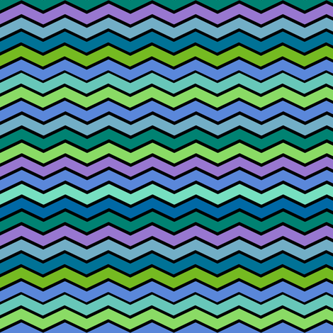 YUMMY CHEVRONS SHADES OF OCEAN fabric by paysmage on Spoonflower - custom fabric