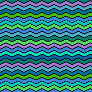 YUMMY CHEVRONS SHADES OF OCEAN