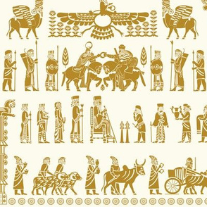 The Apadana or Audience Hall of Persepolis Pattern