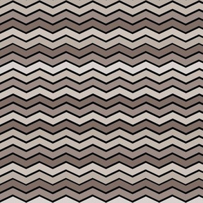 YUMMY CHEVRONS TAUPE TONES