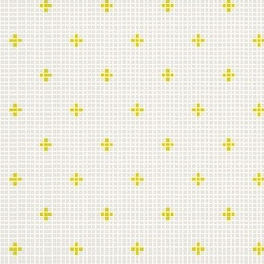 small fry pluses in yellow