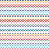 Rainbow Bubbles Multi Bright Neon Dots