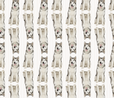 Husky Stripe fabric by pateisen on Spoonflower - custom fabric