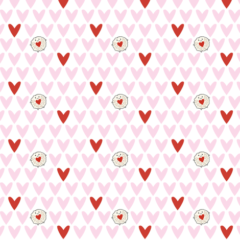 Jammie Dodger Hearts fabric by marcelinesmith on Spoonflower - custom fabric