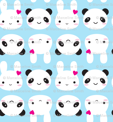 Super Cute Kawaii Bunny and Panda
