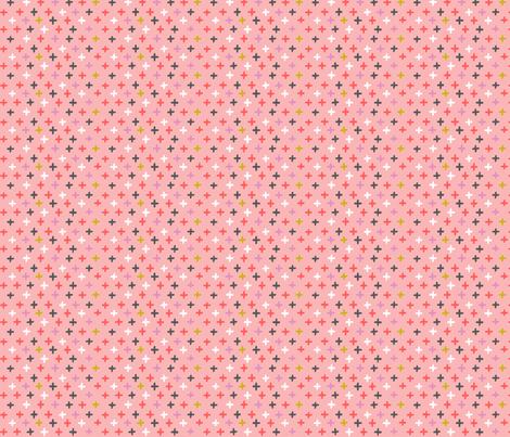 chalky cross - pink fabric by kristinnohe on Spoonflower - custom fabric