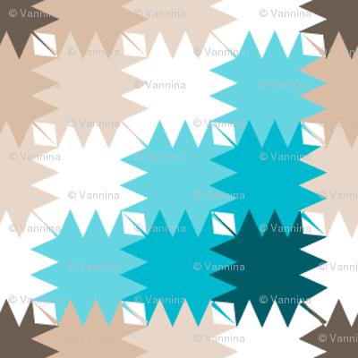 Triangles (Scuba Blue/ Toasted Almond)