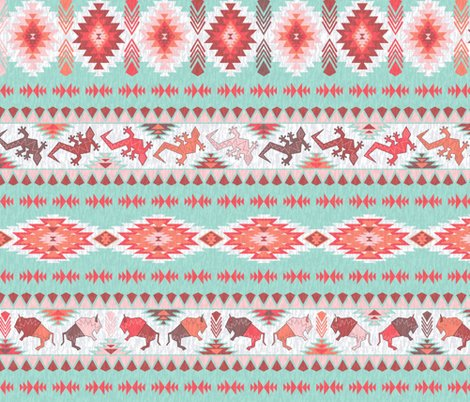 Rbuffalo_and_gecko__coral-mint__shop_preview