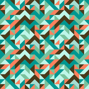 Aztec Triangle Surf Abstract