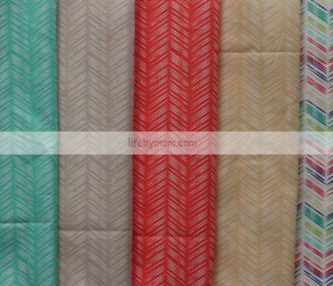 Herringbone: Coral