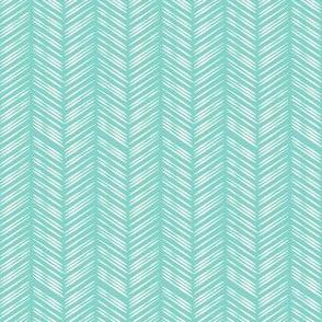 Herringbone: Aqua