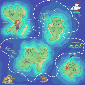 The Pirate Treasue Map