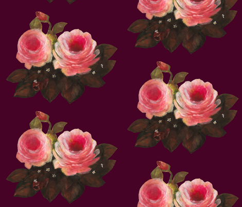 Royal Roses fabric by deercreekartworks on Spoonflower - custom fabric