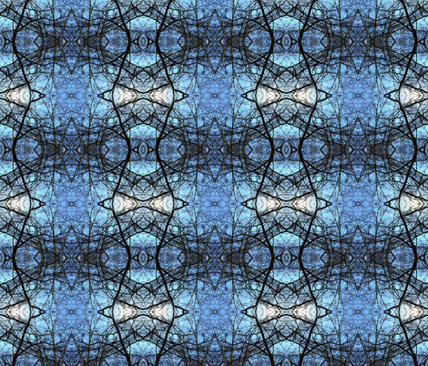 blue sky fabric by izkell on Spoonflower - custom fabric