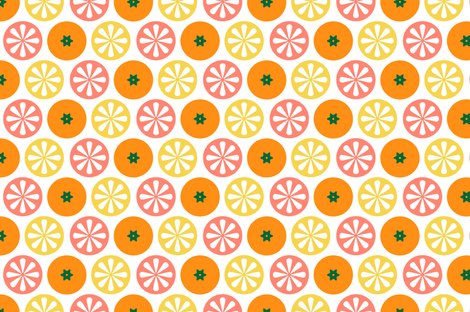 Citrus fabric by lemonni on Spoonflower - custom fabric
