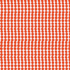 small orange polka