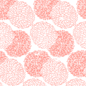 Modern Posy in Light Coral