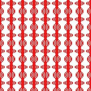 Beads White Red Curvy