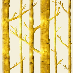 Metallic Birch Forest
