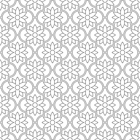 c-rhombus flower fabric by sef on Spoonflower - custom fabric