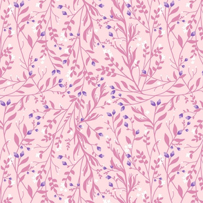 Tangled Vines in Regency Pink
