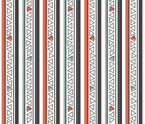 Southwest Baby Stripe fabric by jenniferfranklin on Spoonflower - custom fabric