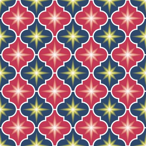 c-rhombus star 2 - matisse fabric by sef on Spoonflower - custom fabric