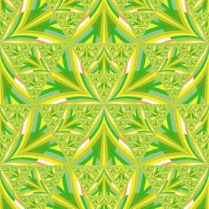 Yellow Iris Geometric Pattern
