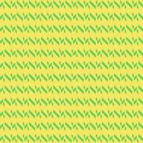 Yellow Green Chevron Stripe