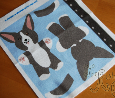 Kawaii Corgi mini plushie - black white